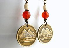 Egyptian earrings Coin earrings Coin jewelry by CoinStories