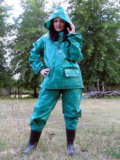 Rainweargirl - a place to appreciate the style, beauty and practicality of rainwear in all forms and textures. Adele, Girls Wear, Women Wear, Vinyl Clothing, Rubber Raincoats, Yellow Raincoat, Rain Gear, Sexy Outfits, Rain Boots