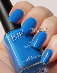 Marias Nail Art and Polish Blog: Kiko 294 Indigo and 339 Cornflower swatches
