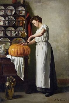 View Carving the pumpkin by Franck Antoine Bail on artnet. Browse upcoming and past auction lots by Franck Antoine Bail. Vincent Van Gogh, Halloween Pumpkins, Fall Halloween, Halloween Decorations, Arte Peculiar, Vintage Thanksgiving, Thanksgiving Greetings, Pumpkin Art, Pumpkin Carving