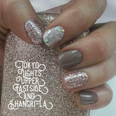 Feb 2019 - Create a custom manicure with Color Street nail polish strips by mixing Upper Eastside, Tokoyo Lights and Shangri-La. Accent muted creme brown with fun holographic glitter and sparkles for a glamorous, mess-free mani in minutes! Nail Color Combos, Toe Nail Color, Color Street Nails, Nail Colors, Simple Toe Nails, Summer Toe Nails, Fall Nails, Winter Nails, Pedicures