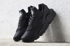 You will have a 2nd chance to cop this all black Nike Air Huarache.