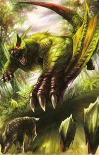 Green Nargacuga Artwork