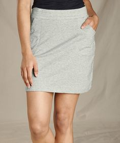 Toad&Co Heather Gray Pocket Samba Luna Pencil Skirt - Women Sports Skirts, Woman Back, Toad, Samba, Heather Gray, Organic Cotton, Mini Skirts, Pencil, Grey