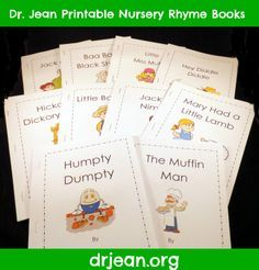 Printable Nursery Rhyme Packet for preschool, pre-k, kindergarten, or first grade. Includes mp3s from Dr. Jean via www.pre-kpages.com