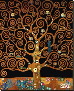 Under the Tree of Life Stretched Canvas Print by Gustav Klimt at AllPosters.com