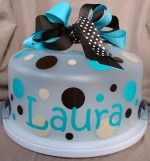personalized cake caddy