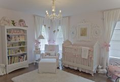 Lovely #vintage inspired #white #nursery.