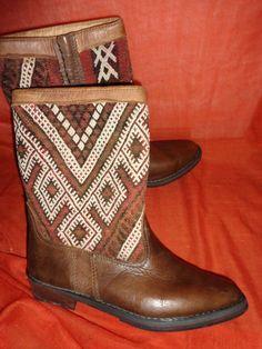 Ara Vintage Stiefel 38 Leder 70s leather boots 5 beige