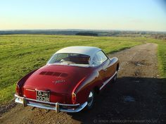 1963 VW Karmann Ghia Coupe: a classic car and a winding road