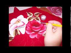 Eliana Rolim - Avental vermelho - rosas e copos de leite - YouTube