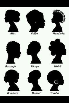 #natural hair silhouettes