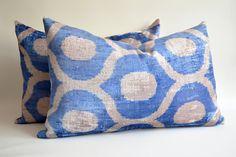 Sukan / SALE  SET 2 Pillows Soft Handwoven  Silk Velvet by sukan, $139.95