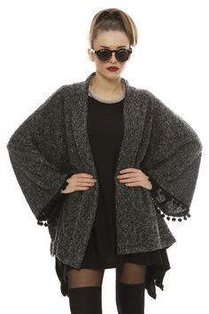 Made Of Grace Pom Pom Cardigan - ΡΟΥΧΑ -> Jackets & kimono | Made of Grace