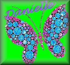 The Name Danielle In Glitter | Danielle Name graphics
