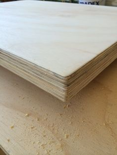 Whitewashed Plywood Table by LittleRedIndustries on Etsy                                                                                                                                                                                 More