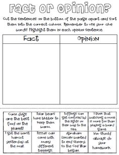 √ Fact and Opinion Worksheets . 29 Fact and Opinion Worksheets . 155 Best Fact and Opinion Images In 2012 Reading Facts, Reading Lessons, Reading Strategies, Reading Skills, Reading Comprehension, Reading Centers, Reading Resources, Opinion Writing, Persuasive Writing
