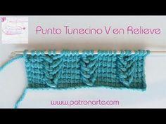 Crochet Tunecino : Trenza # 3. Parte 1 de 2 - YouTube