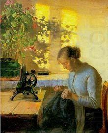 'Syende fiskerpige', Anna Ancher (Danish, 1859 - 1935)