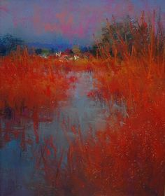 "Norman Smith pastel ""Norfolk Marsh"""