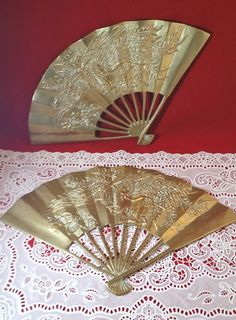 Very Large Vintage Fan Oriental Rox 63 Span Height 35 Free P In Home Furniture Diy Decor Wall Hangings Ebay Pinterest