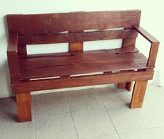 Small Bench Made From Pallets