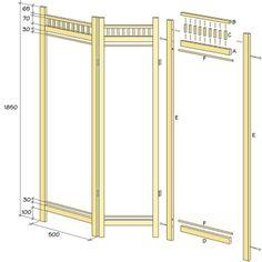 Drawing folding screen