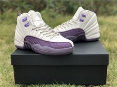 bdc069f352d6 Air Jordan 12 GS Desert Sand Purple White Girls Size-5 New Jordans 12