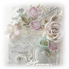 Shabby Chic  Card by Inger Harding. For My handmade greeting cards visit me at  My English Personal blog: http://stampingwithbibiana.blogspot.com/