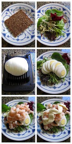 Smørrebrød - Rejer (shrimp): it's just missing butter on the bread.