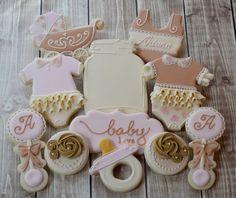 Shabby Chic Cookies bebé ducha galletas galletas de azúcar