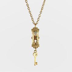 Image of Wonderland Doorknob Necklace