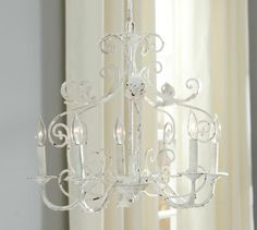 Avery Chandelier | Pottery Barn  done in chalk paint style