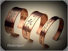 Bratari unisex din cupru by hadarugart on DeviantArt Copper Bracelet, Cuff Bracelets, Copper Artwork, Gold Rings, Artisan, Rose Gold, Deviantart, Unisex, Metal