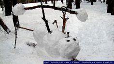 funny snowman 6