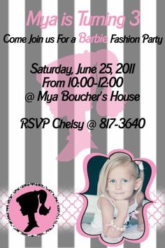 Classic Barbie Fashion Show Party {Mya's 3 Year Old Birthday Party}