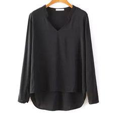 29,90EUR Chiffonbluse Bluse schwarz mit Stehkragen