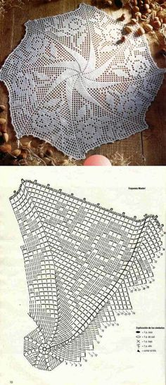 Discover (and save! Filet Crochet, Crochet Mittens, Crochet Chart, Thread Crochet, Crochet Stitches, Crochet Dollies, Crochet Doily Patterns, Crochet Motif, Crochet Table Topper