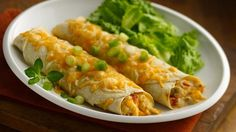 Fill chicken that's cooked with Progresso® soup and Old El Paso® green chiles in Old El Paso tortillas to make these cheesy enchiladas. Perfect for a Mexican dinner!