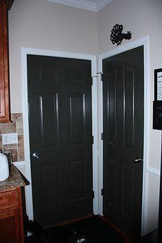 Benjamin Moore Dragons Breath doors All interior doors and garage entry door is this color.