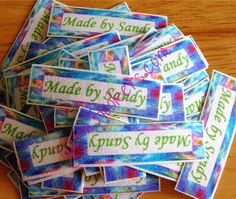 Iron On / Sew In - 100% Cotton Fabric Labels (White), $11
