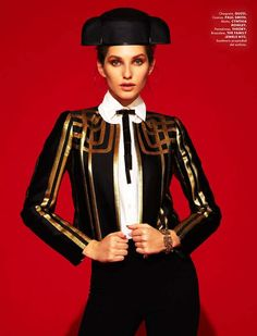 Vibrant Spanish Ensembles - The Elle Mexico April 2012 Cover Shoot Stars an Exotic Kelsey Van Mook (GALLERY)