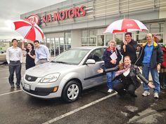 Picking up your Kia Rio in Newmarket, Ontario!