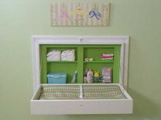 Built-in changing table.