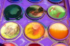 """Solar System Art for Preschool....make recycled crayon """"planets""""?"""