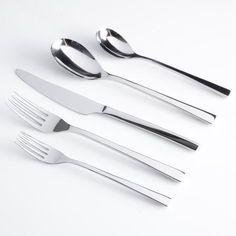 Gibson Elite Sparland Stainless Steel Kitchen Flatware Set (20 Pieces), Red
