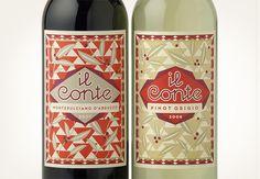 il conte labels - Louise Fili Ltd. like the pattern.