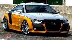 Audi TT RS Coupé de emywouf dans la vitrine de Forza Motorsport 3 Forza Motorsport 3, Mitsubishi Lancer Evolution, Audi Tt, Bmw, Vehicles, Glass Display Case, Automobile, Vehicle