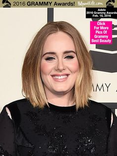 When Adelerolled onto the Grammy red carpet, she was certainly ready to turn some heads. Her makeup looked incredible, rocking her trademarkeyeliner and glossy pinklips! See her beautiful look h...