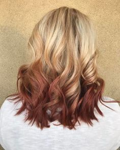 81 Auburn Hair Color Ideas in 2019 for Red-Brown Hair-Auburn Blonde Auburn Blonde Hair, Auburn Ombre, Grey Blonde Hair, Auburn Balayage, Blonde Tips, Blonde Roots, Red Brown Hair, Hair Color Auburn, Ombre Hair Color